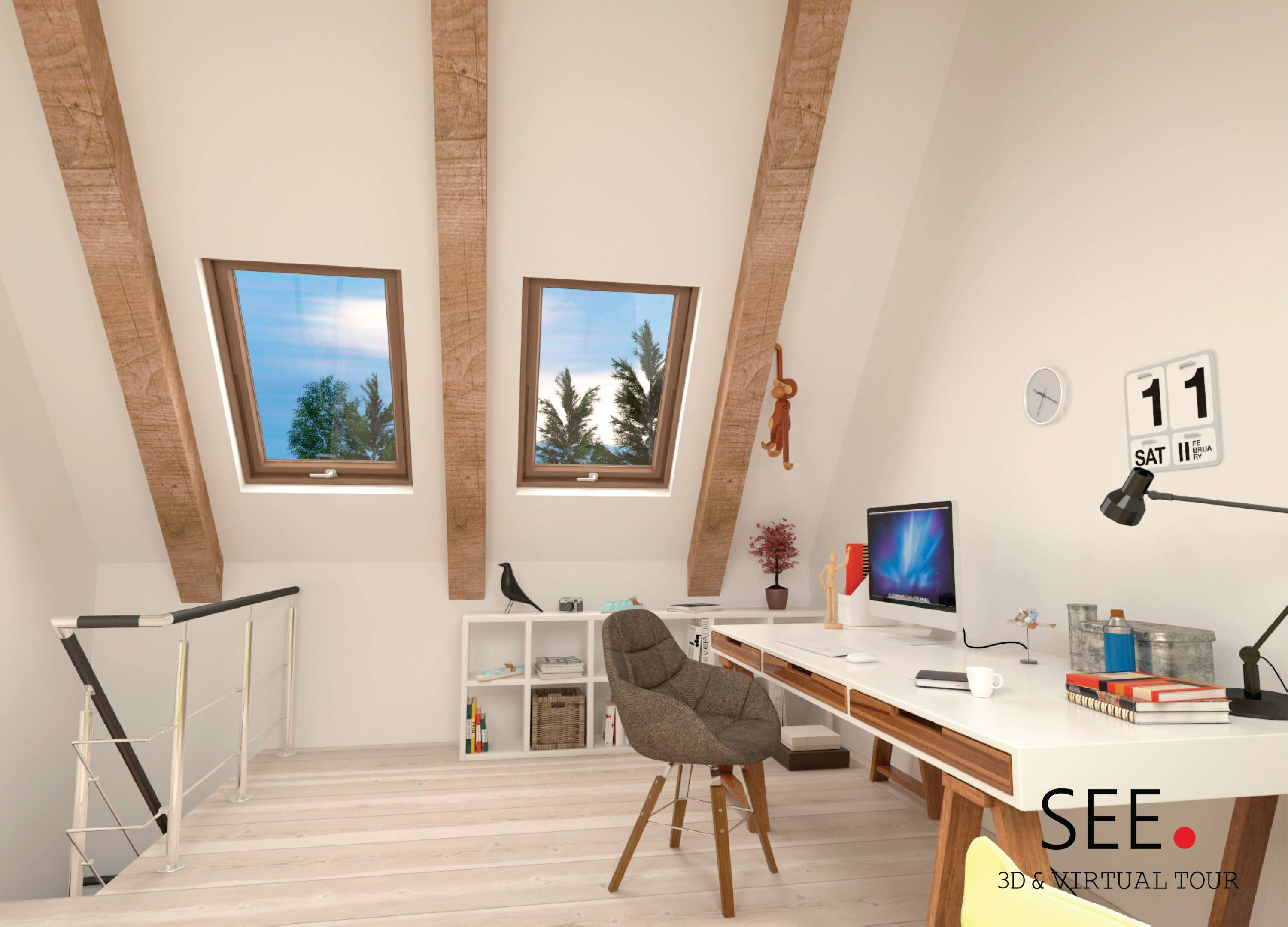 virtual home office. Home Office - Virtual Tour