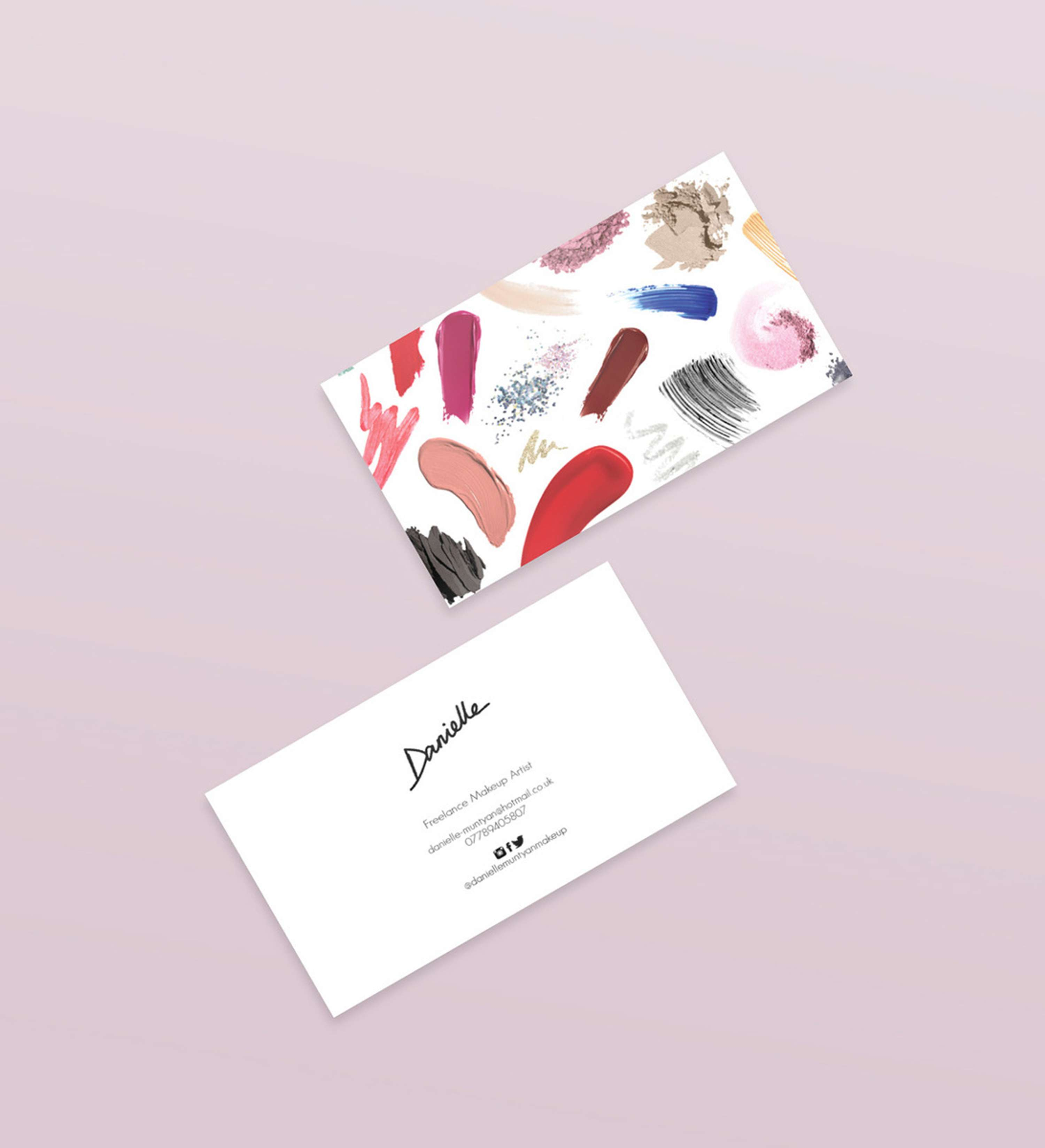 Makeup Artist Business Cards | The Dots
